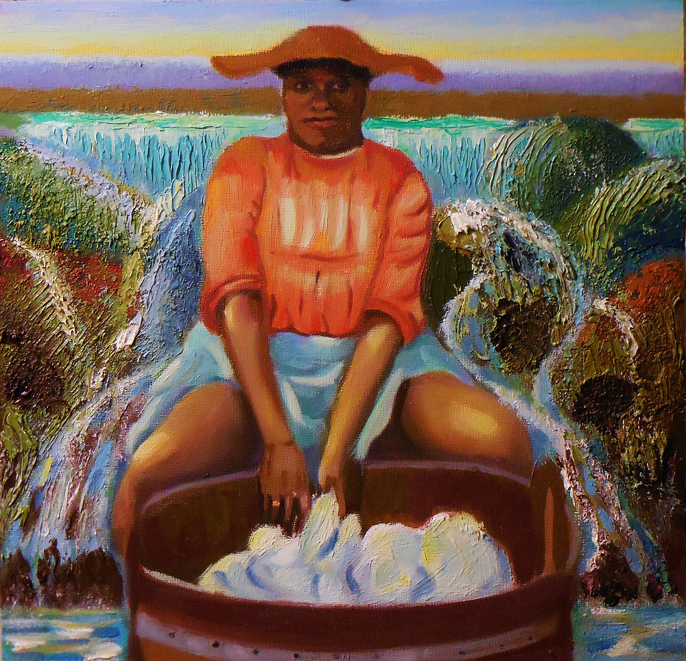 McKinson_The Washer Woman _Oil on Panel 12x12