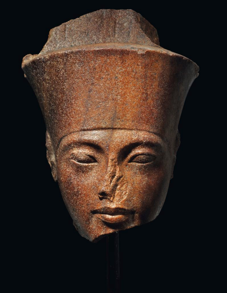 The Egyptian head of the god Amun with features of the Pharaoh Tutankhamen.