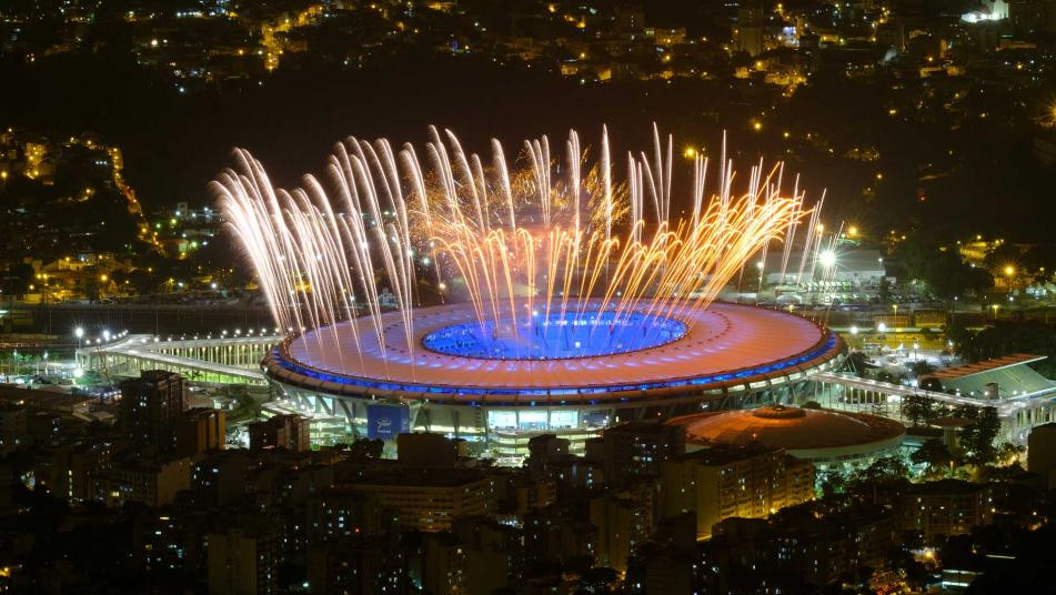 Rio Opening Ceremony Fireworks