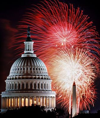 The capitol and Fire Works