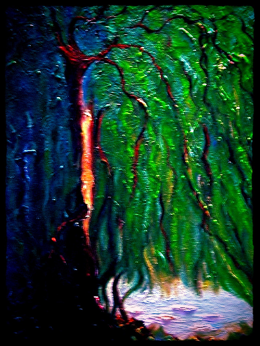 Weeping Willow I Oil on canvas 16x20