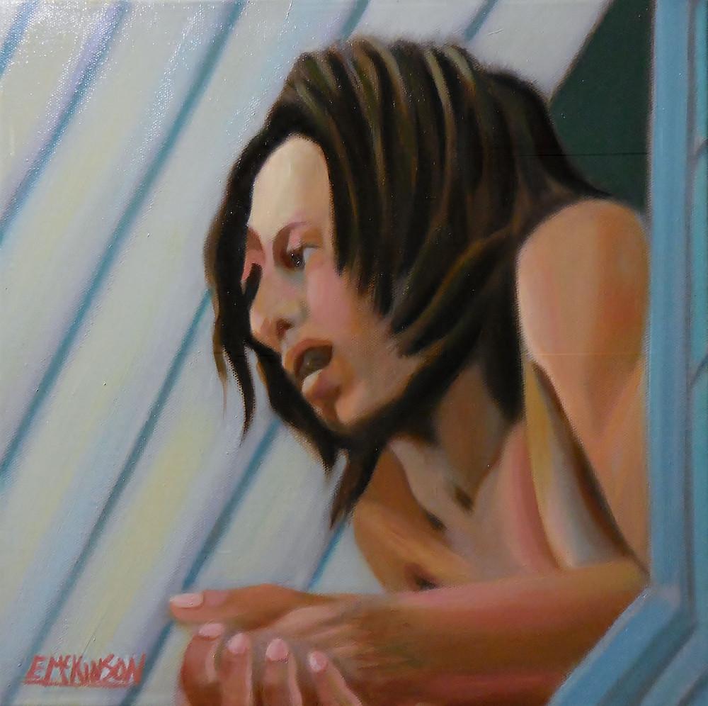 Hon. Robert Nesta Marley OM, Errol McKinson Oil on Canvas 14x14
