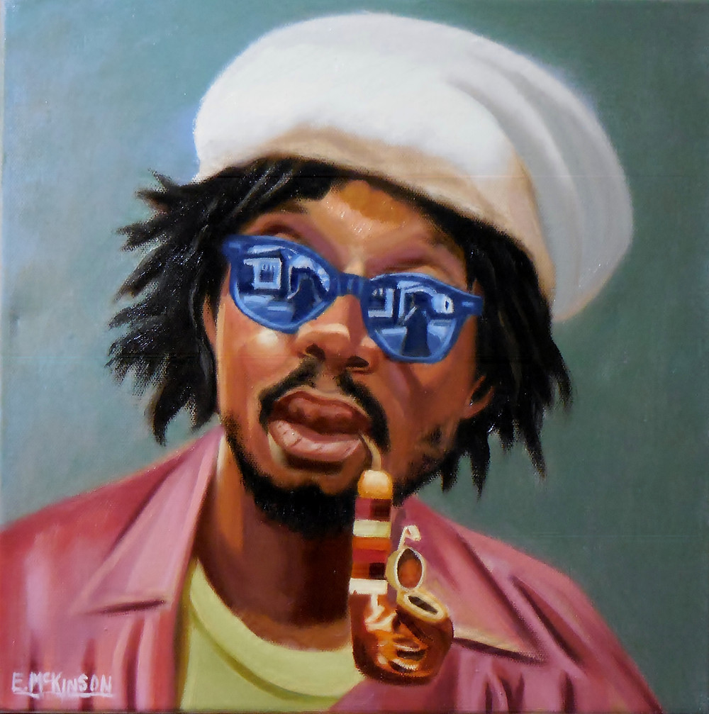 McKinson_Winston Hubert McIntosh OM aka Peter Tosh_Oil on Canvas 14x14