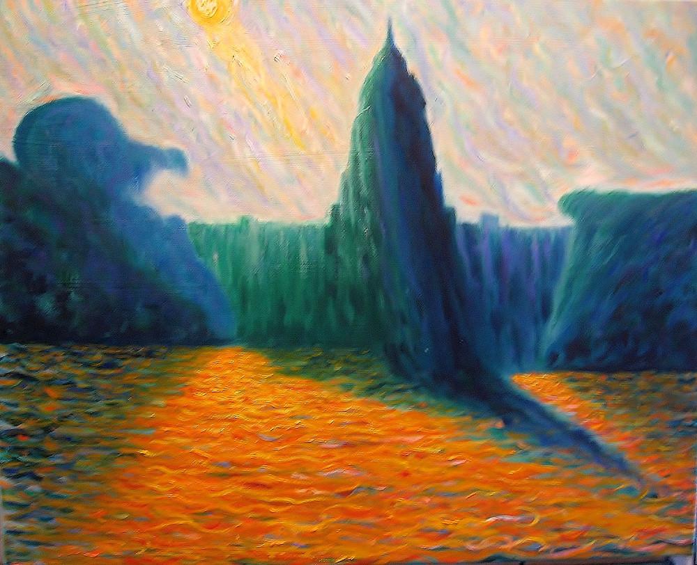 Capitol IV , Errol McKinson Oil on canvas 20x16