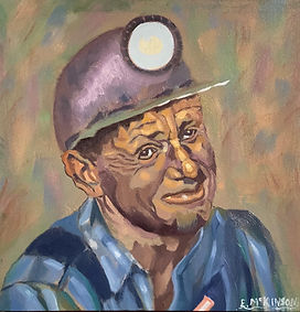 Coal Miner - Larry  Oil on Gesso Board 12 x 12 x1.JPEG