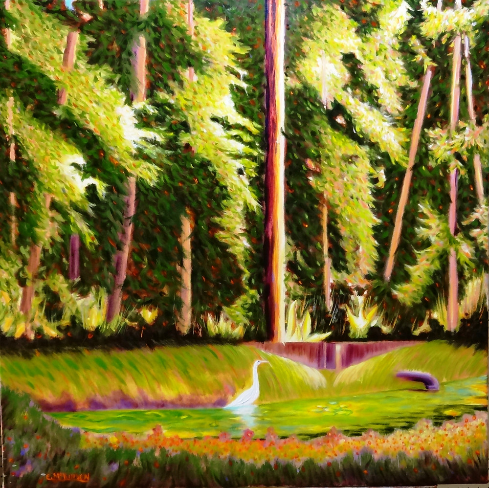 Paradise Cove Oil on canvas 30x30