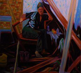 History (His Story), Errol McKinson Oil on canvas 24x24