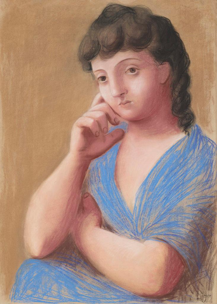 Pablo Picasso, Femme accoudée, 1921