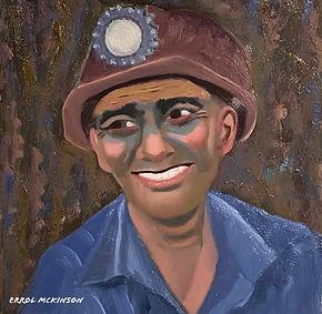Coal Miner - Sanchez  the Dragline Operator. Oil on Davinci Pro Grip Textured Gesso Panel