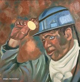 Coal Miners - Benjamin the Hewer. Oil on DaVinci Pro Resist Grip Textured Gesso Panel 12 x