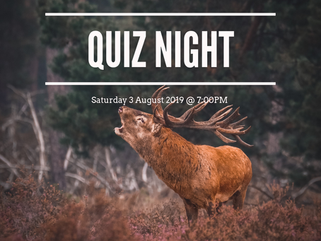 Quiz Night - Saturday 3 August 2019