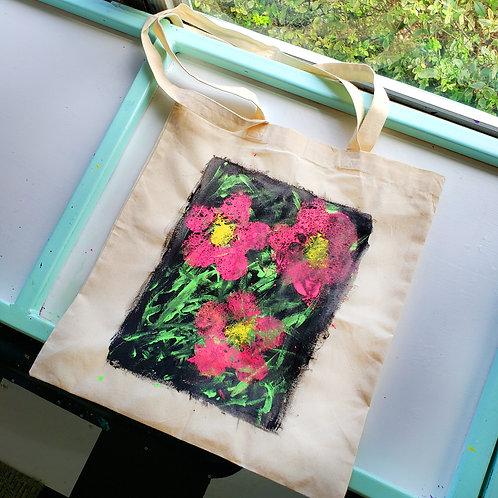 Warhol Inspired - Flower Printed Tote Bag Craft Kit