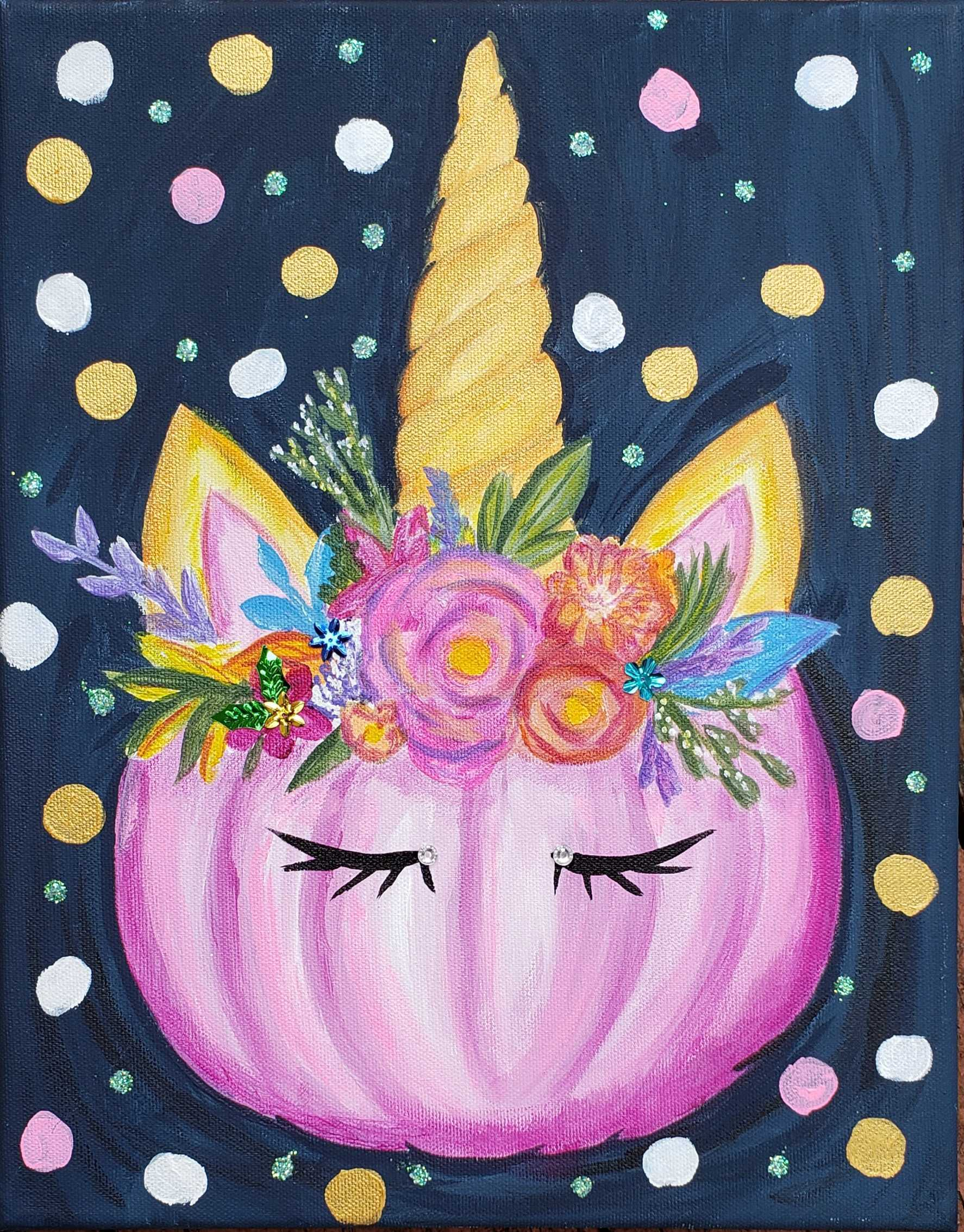New! Unicorn Pumpkin
