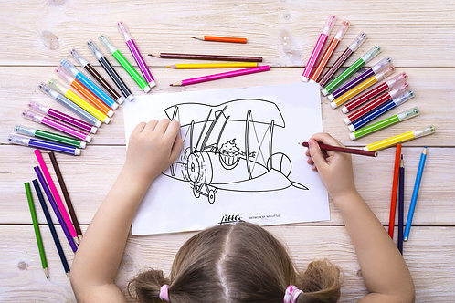 The Flying Cupcake Coloring Page