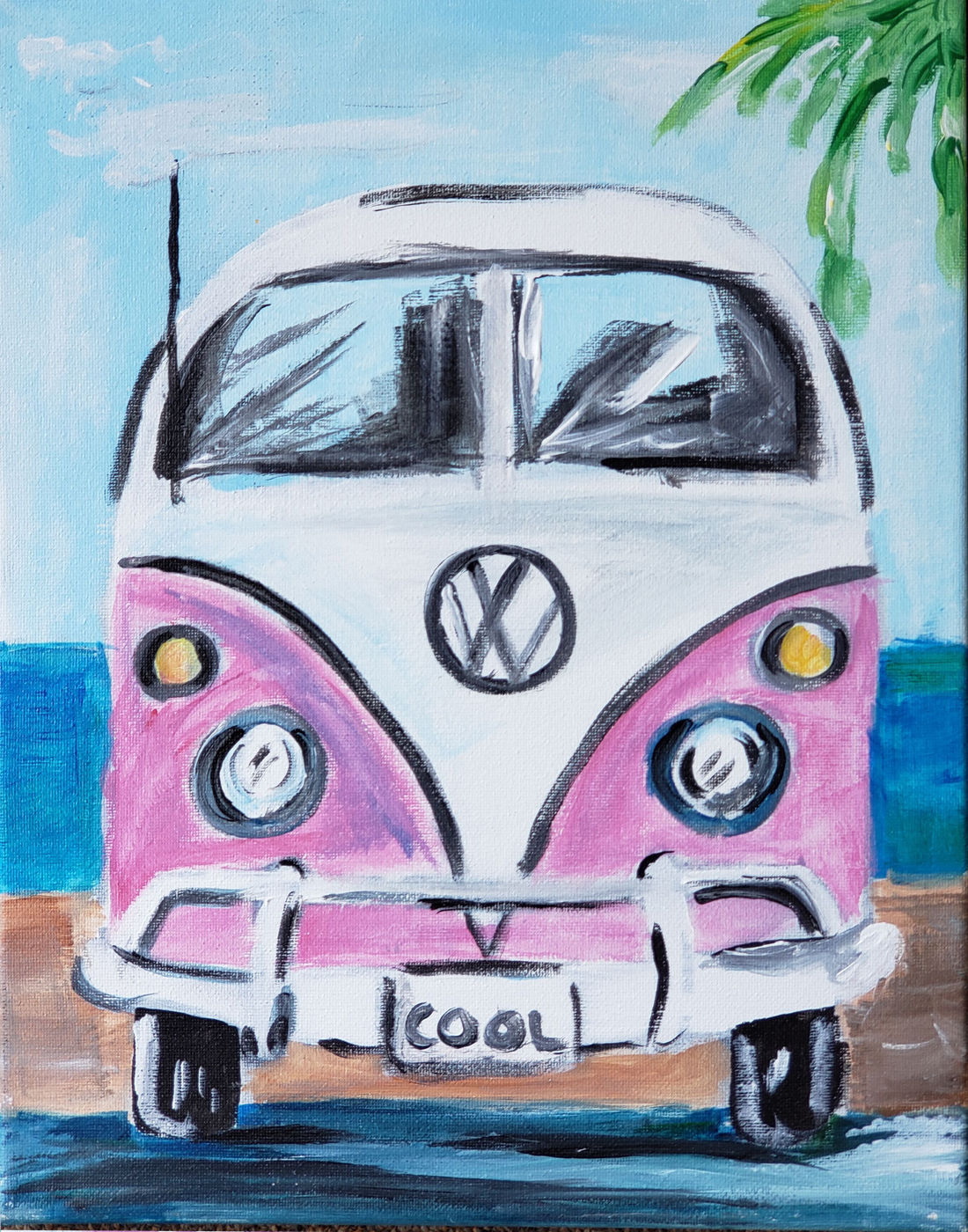 VW Bus at the Beach