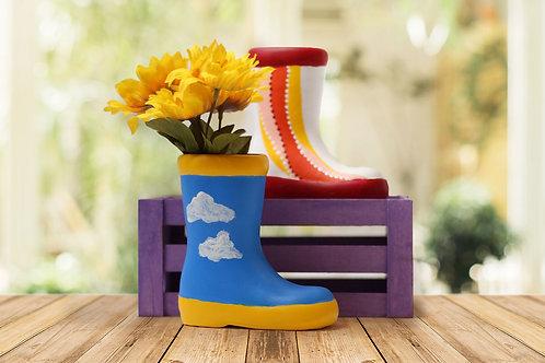 Paint a Ceramic Rainboot Planter