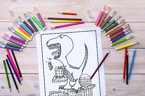"""""""Rampage"""" Coloring Page"""