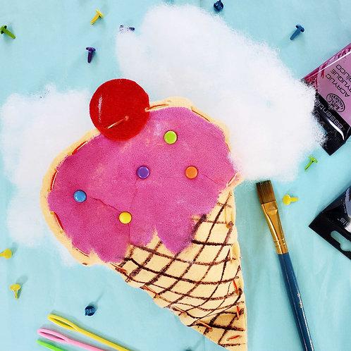 Plush Ice Cream Cone Kit