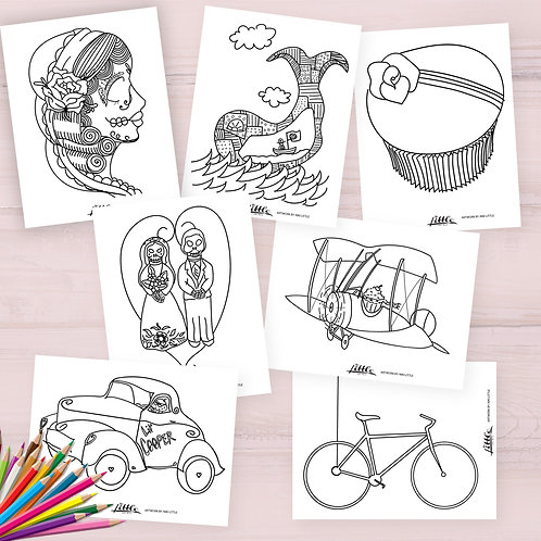 TLAB Coloring Pages Mega Pack
