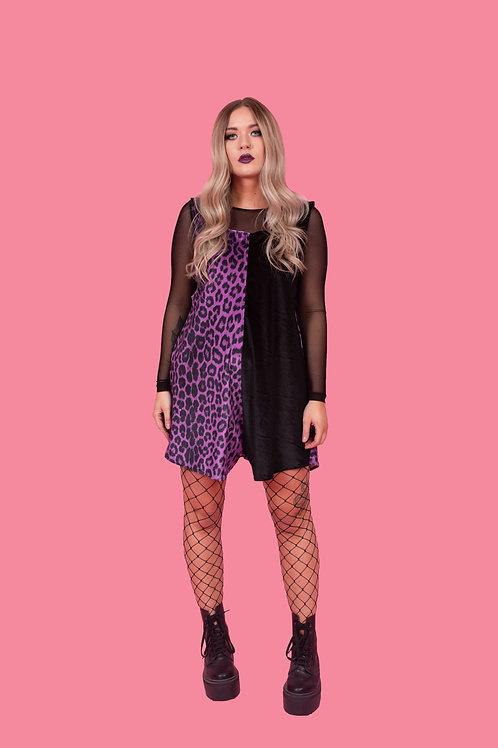 Deep Purple Leopard Print Playsuit