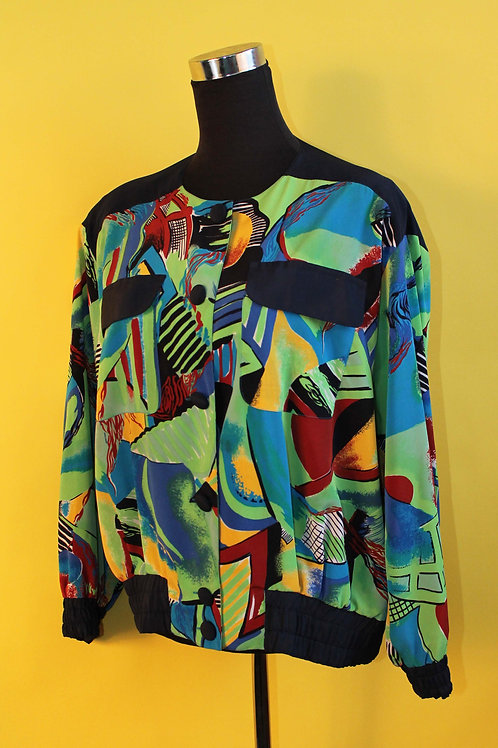 1980s Vintage Abstract Jacket