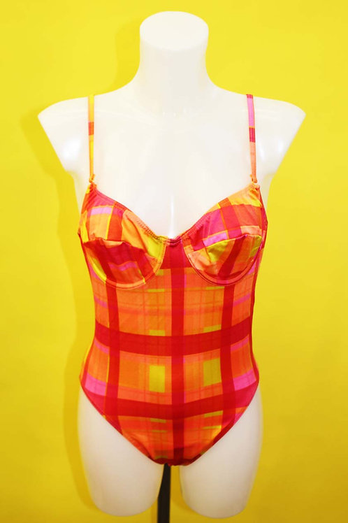 Orange Check Swimsuit