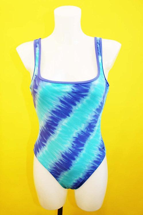 90's Sky Blue Stripe Swimsuit