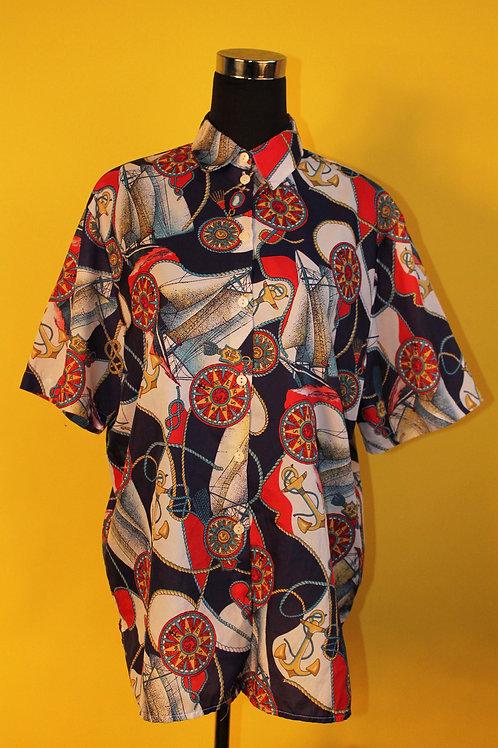 1980s Vintage Sailor Print Shirt