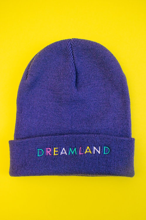 Deep Purple Dreamland Embroidered Beanie