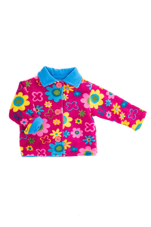 Pink Fleece Floral Jacket