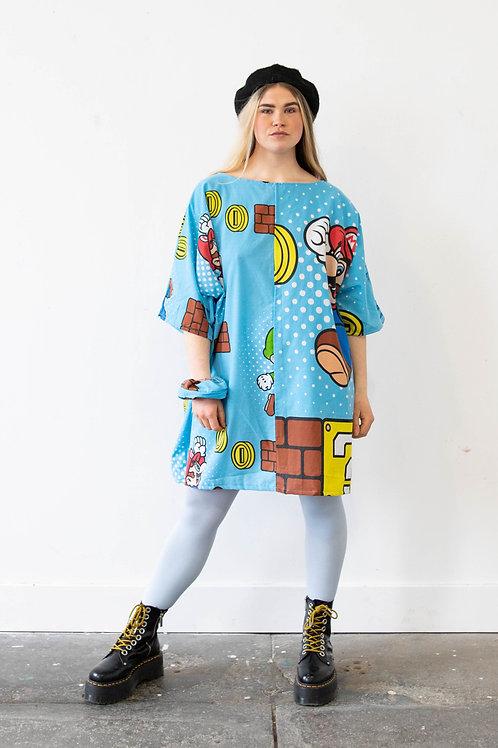 Oversized Super Mario Batwing Dress (Mario)