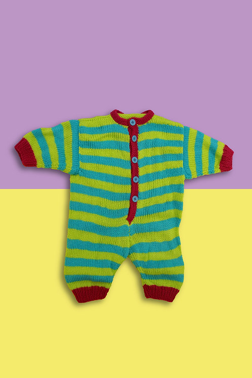 Sherbet Candy Stripe Knitted Babygrow