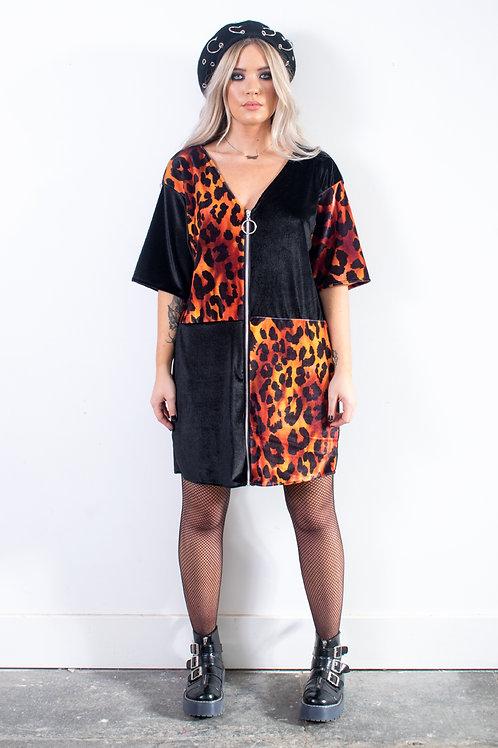 Fire Zip T-shirt Dress