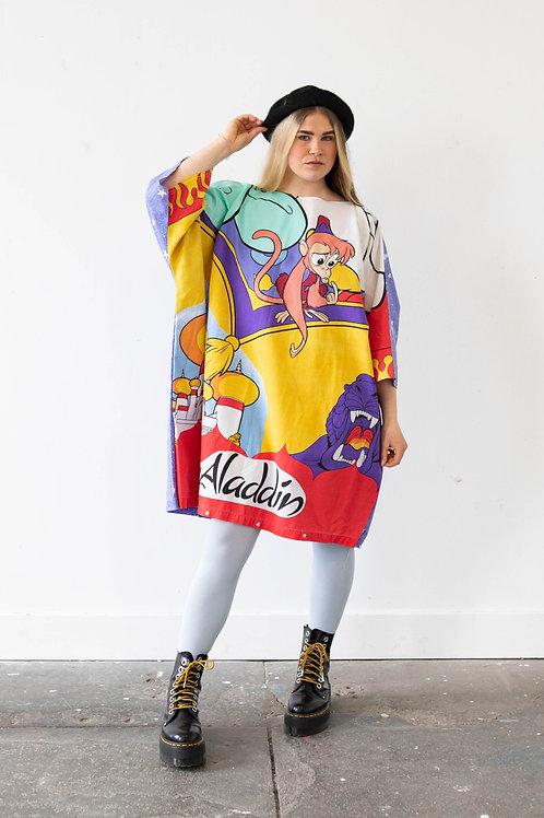 Oversized Aladdin Batwing Dress