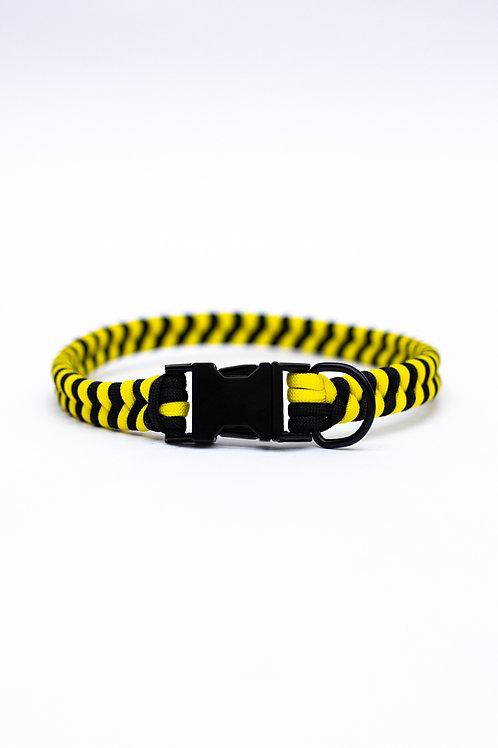 "Dreamland Doggy X Daft Pup 17"" Black And Yellow Collar"