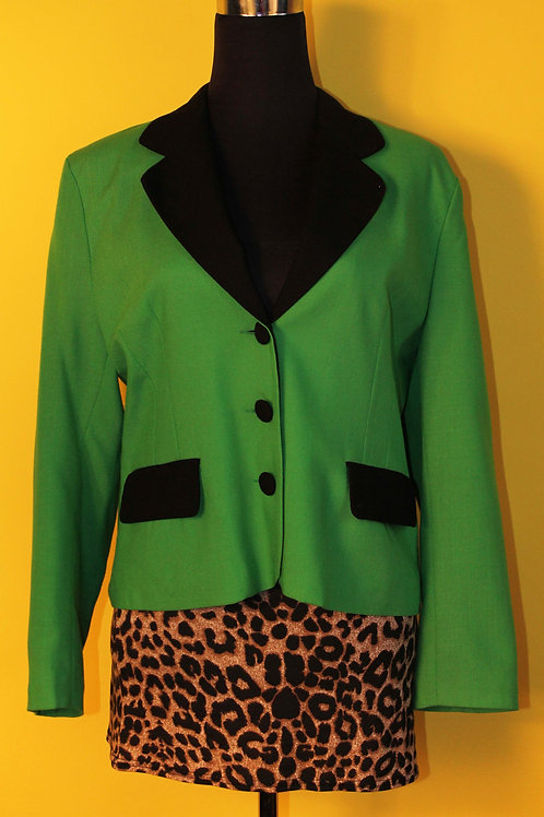 1980s Vintage Bold Green Blazer