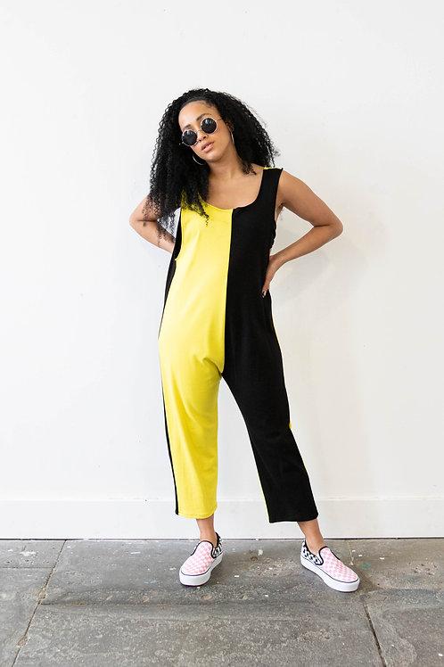 Dreamland Yellow Colour Block Jumpsuit