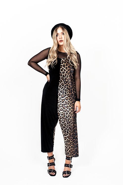 Classic Leopard Print Jumpsuit