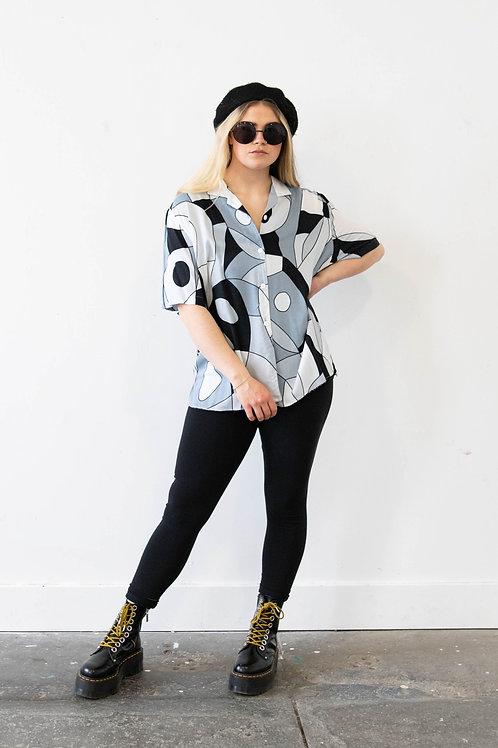 Monochrome Abstract Print Shirt