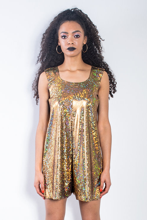 Gold Festival Playsuit