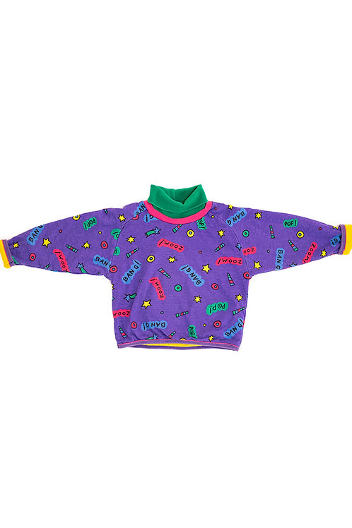 Bang Zoom Purple Printed Jumper