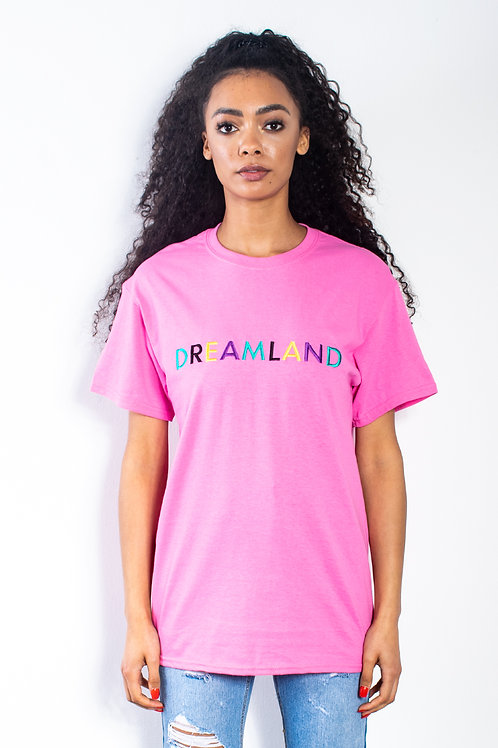 Pink Dreamland Embroidered T-shirt