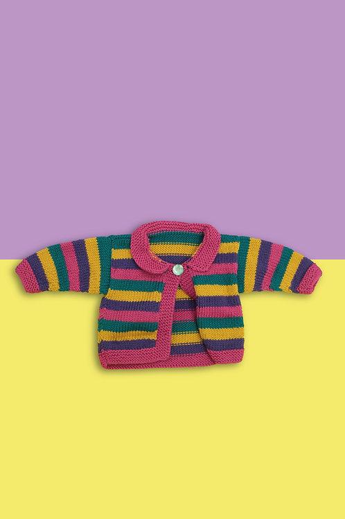 Rainbow Stripe Knitted Cardigan