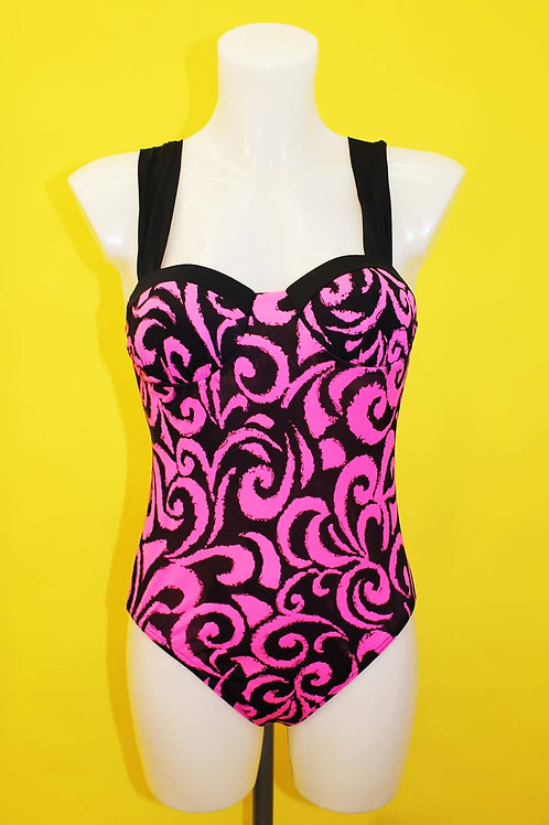 Neon Pink Swirl Swimsuit