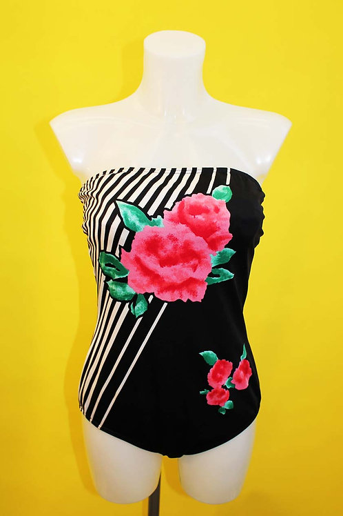 Rose Print Swimsuit