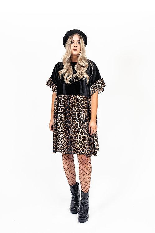 Classic Leopard Print Kelly Dress [Leopard Skirt]