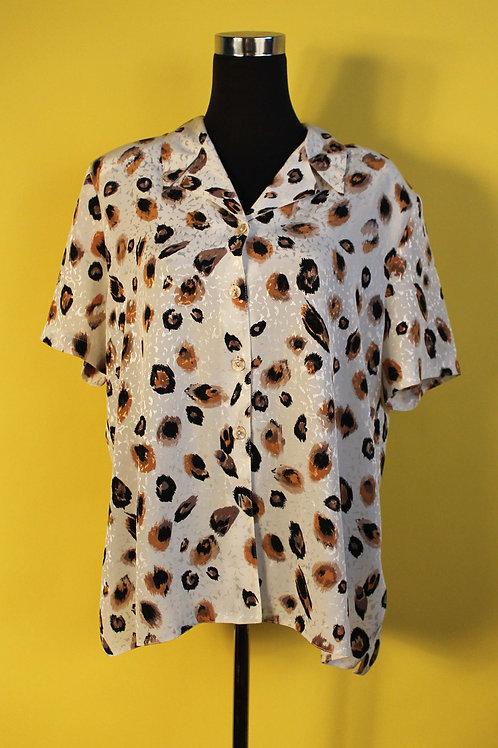 1980s Vintage Animal Print Shirt