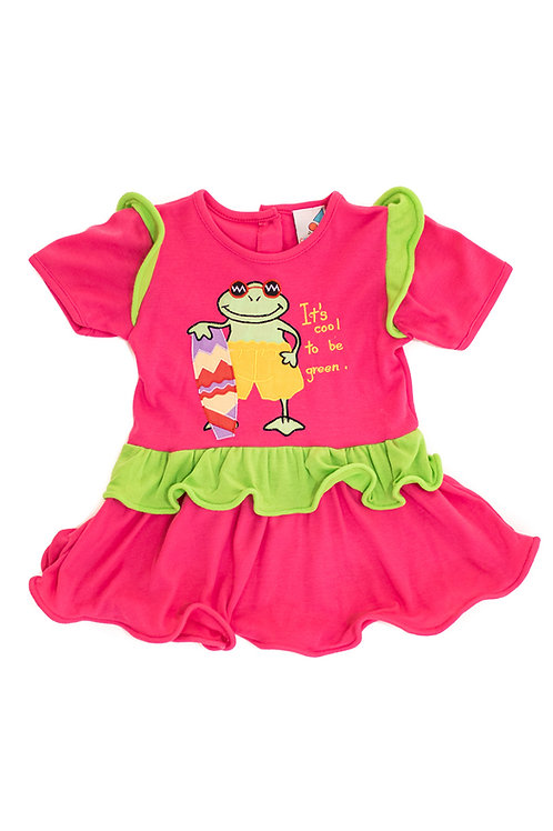 'Its cool' Pink Frog Dress