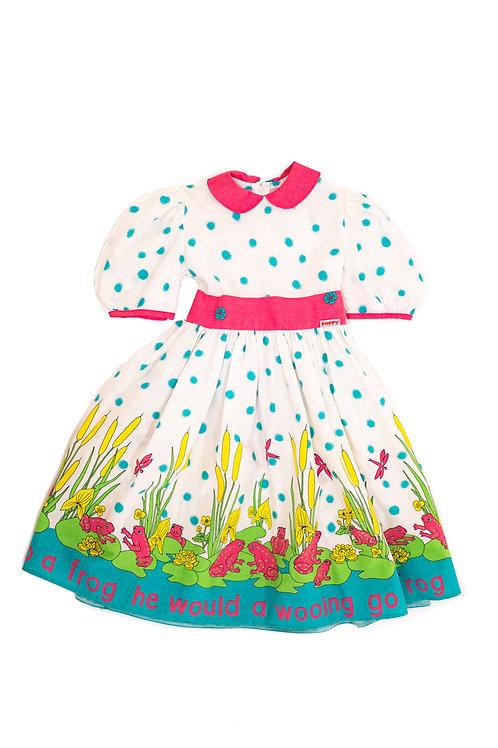 Pink Frog Skater Dress