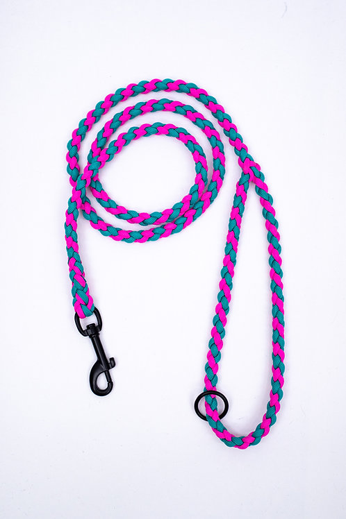 Dreamland Doggy X Daft Pup Pink and Turquoise Lead